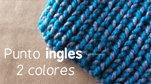 Bufanda Punto Inglés En 2 Colores Craftingeek