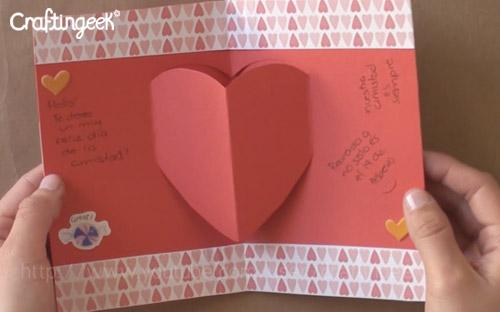 como hacer tarjetas pop up para San Valentín