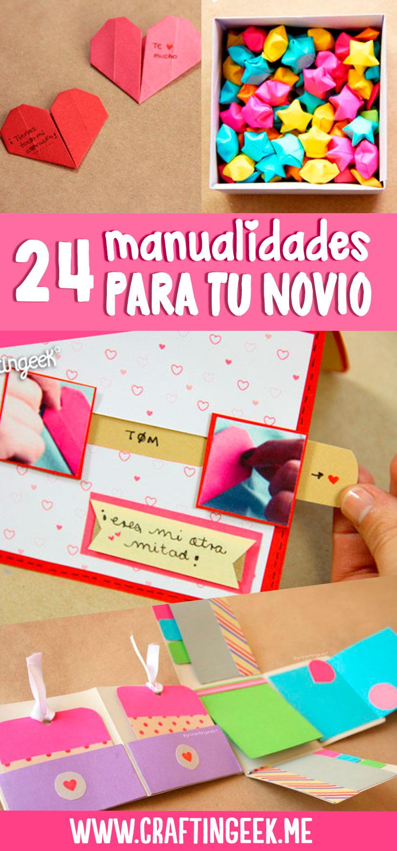 24 manualidades para tu novio o novia - Que regalarle a tu novio en el primer mes ...