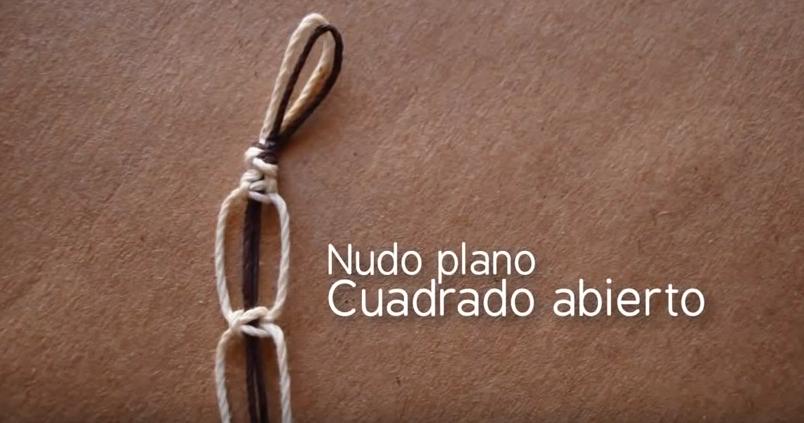 778a5ed48c27 Macrame: Pulsera nudo cuadrado plano ~ Craftingeek