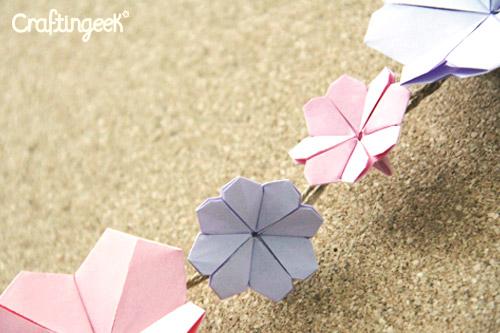 Origami Flor De Cerezo Cherry Blossom Craftingeek