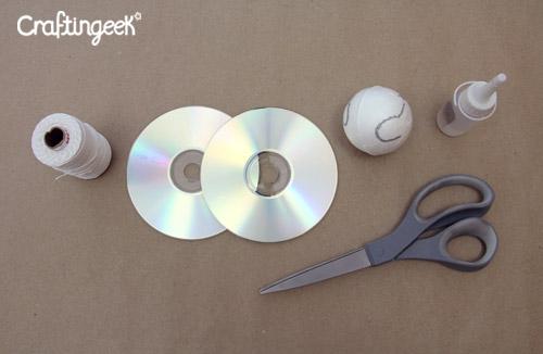 Haz Una Bola Disco Con Cds Reciclados Craftingeek