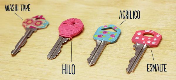 Decora tus llaves para identificarlas - Pintura esmalte acrilico ...