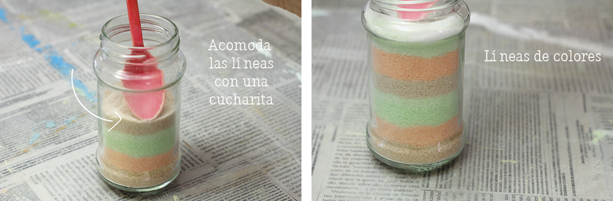 Haz un florero con arena de colores para decorar tu casa / Make your own colored salt jar to decorate your room