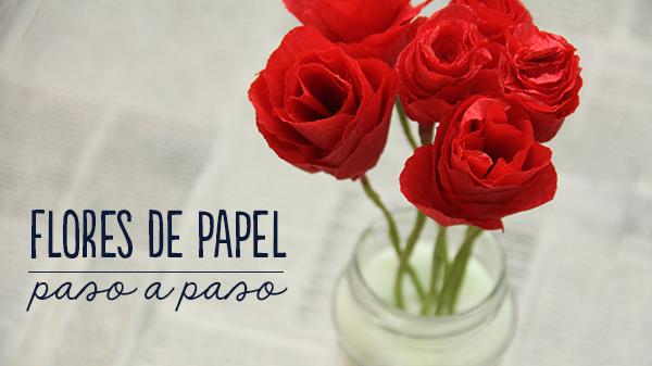 Aprende a hacer flores de papel crepé paso a paso // How to make crepe paper roses