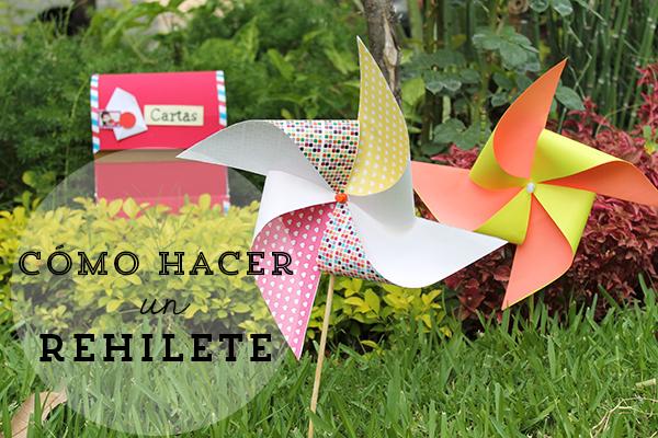 C mo hacer un rehilete de papel for Como hacer molinos de viento para el jardin