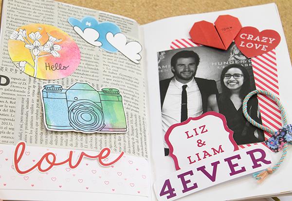 Tips para decorar un album de scrapbook - Decorar album de fotos por dentro ...