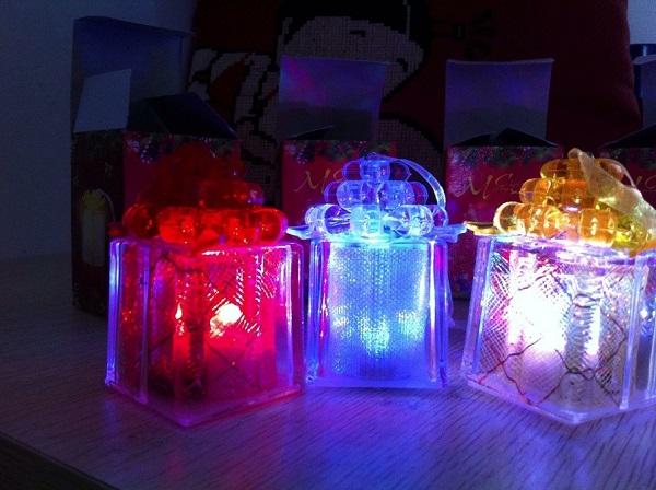 CAJITAS 2 luces de navidad