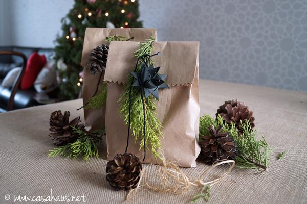 Envoltura natural para Navidad