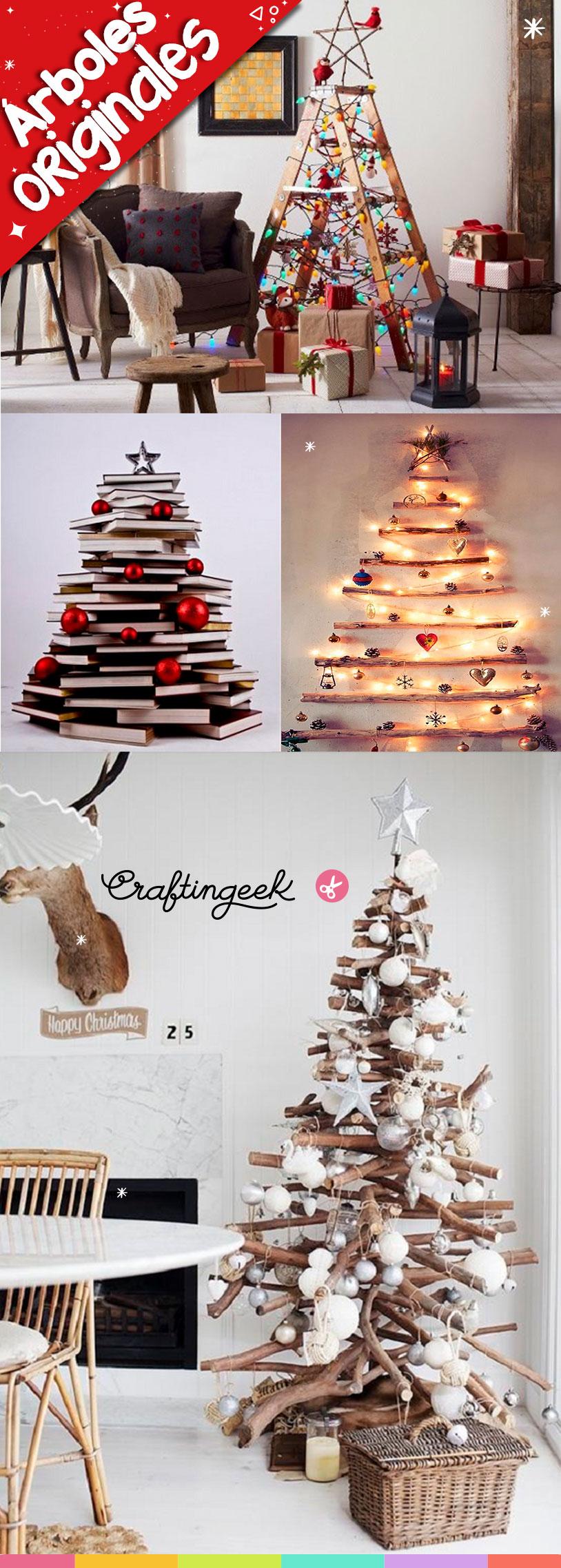 ideas arboles navidad originales - Arboles Navidad Originales