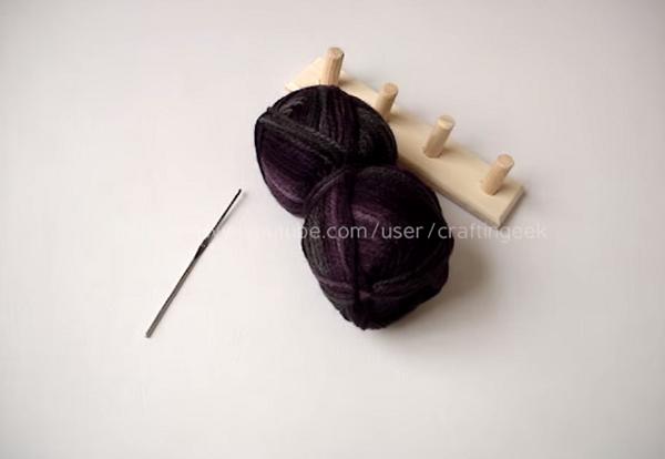 bufanda trenzada en telar