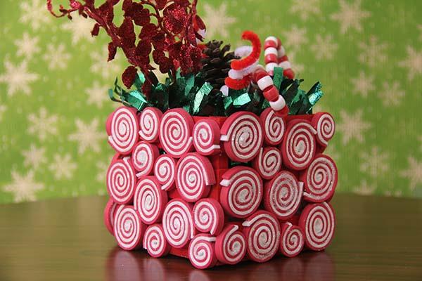 Manualidades de navidad centros de mesa - Como hacer centros navidenos ...