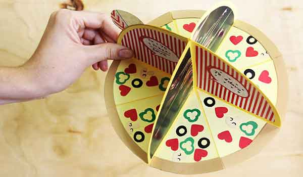 album scrapbook pizza