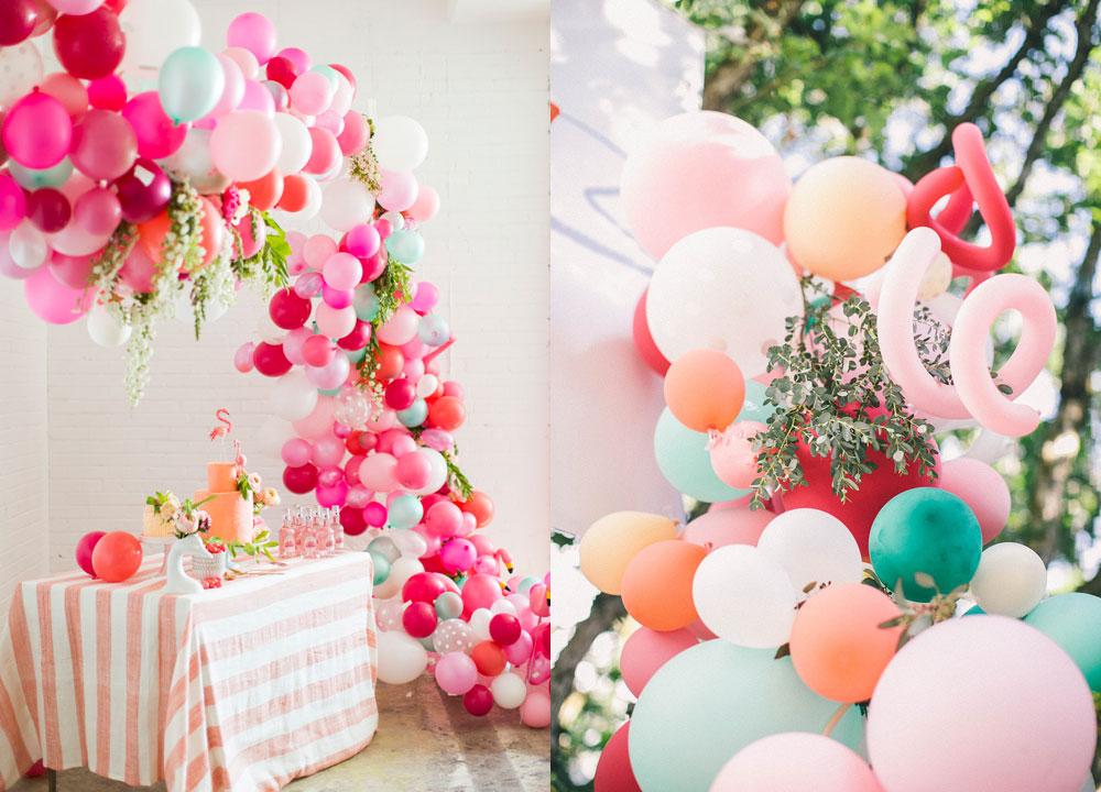 decoracion fiestas con globos