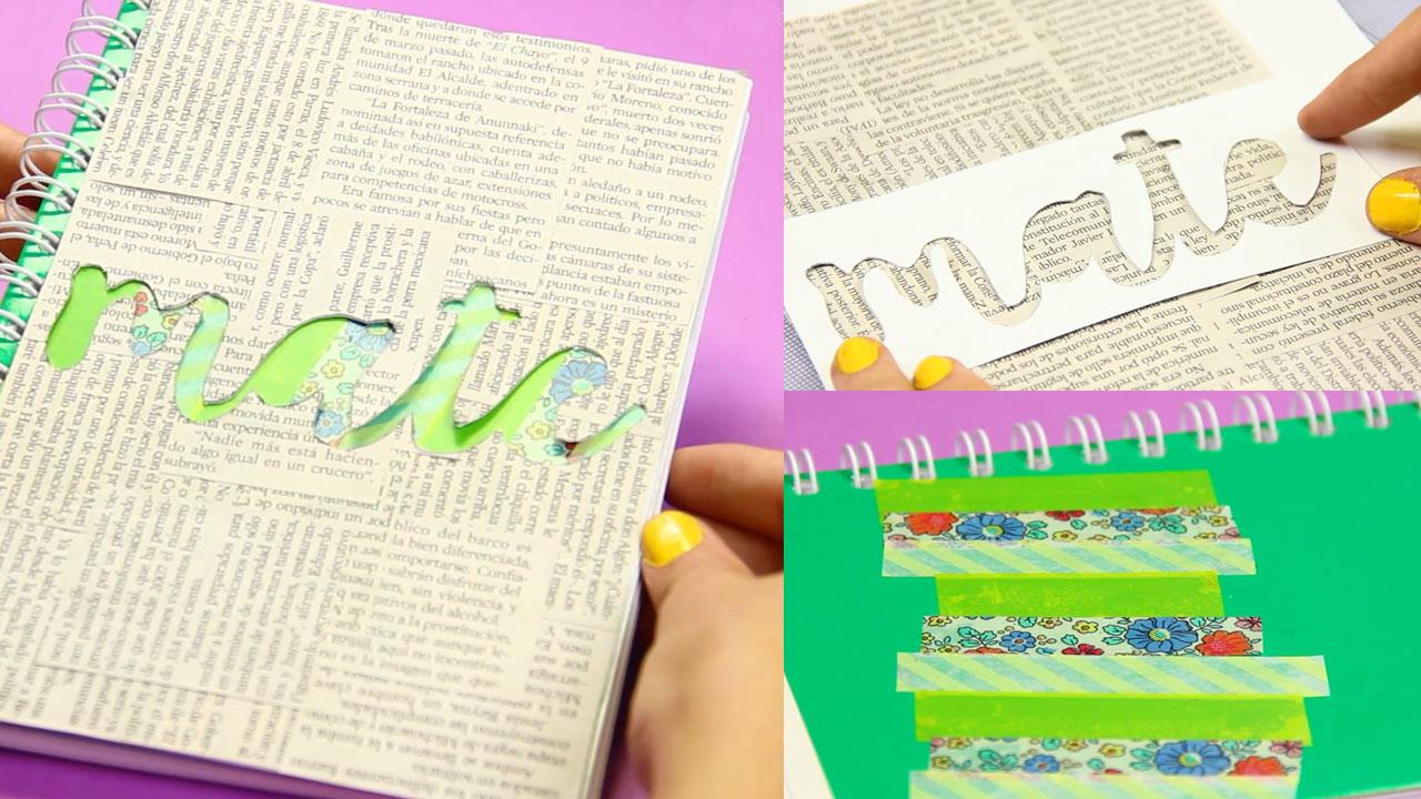 Ideas De Portadas Para Cuadernos Decorar Libretas Con: 5 Ideas Para Decorar Tus Cuadernos: Regreso A Clases