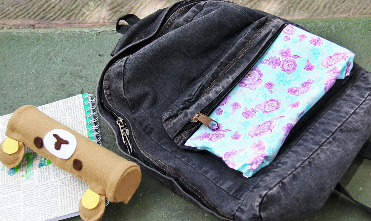 decorar tu mochila tela
