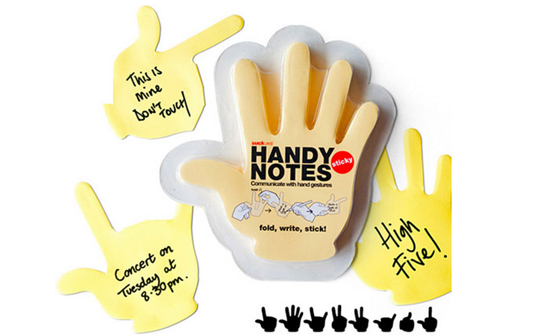 hands sticky notes