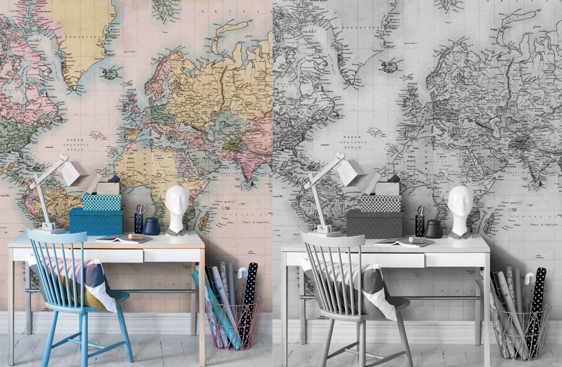 home-office-mapa-vintage