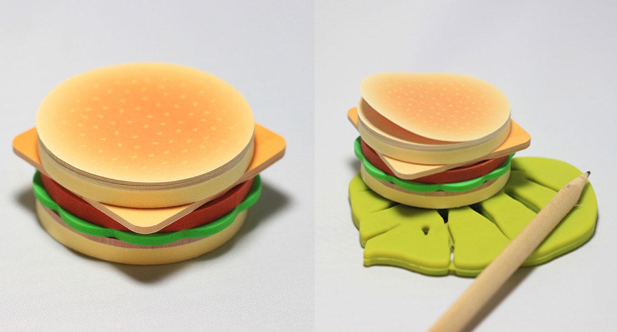 notas forma de hamburguesa