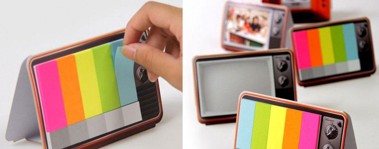 tv-a-color notas adhesivas