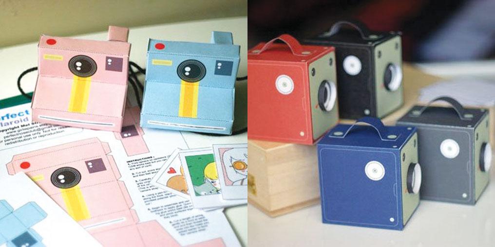 camara fotografica papel