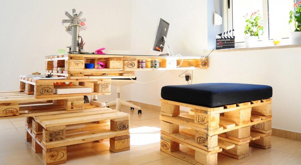 escritorio reciclado de pallets