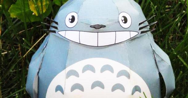 juguete de papel totoro