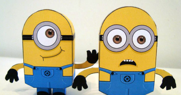minions paper toys
