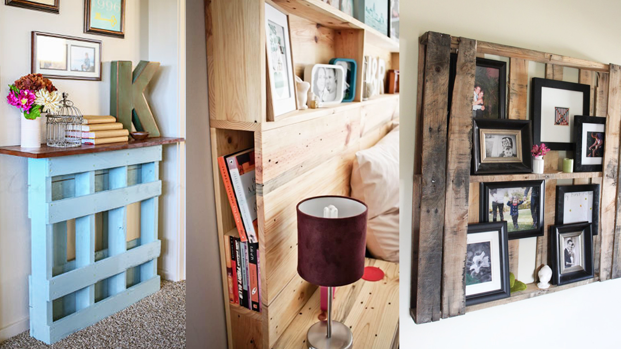 Ideas decoracion muebles con pallets craftingeek for Muebles super economicos