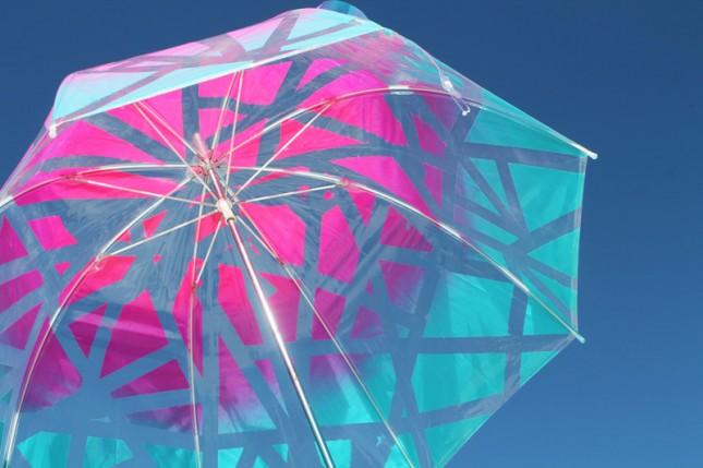 paraguas estilo ombre