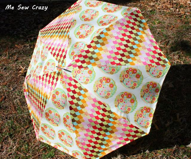 pedazos de tela paraguas