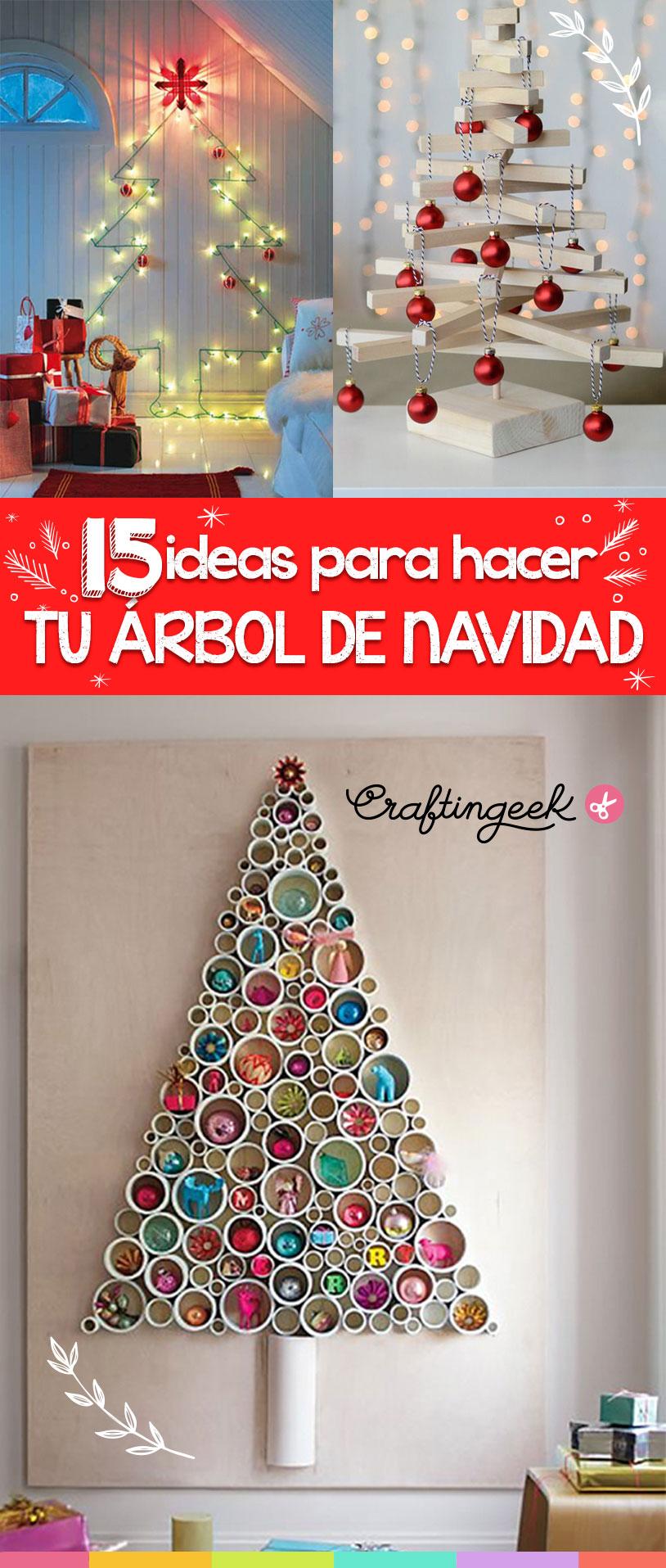 15 ideas para hacer tu propio rbol de navidad craftingeek for Cosas para hacer de navidad faciles