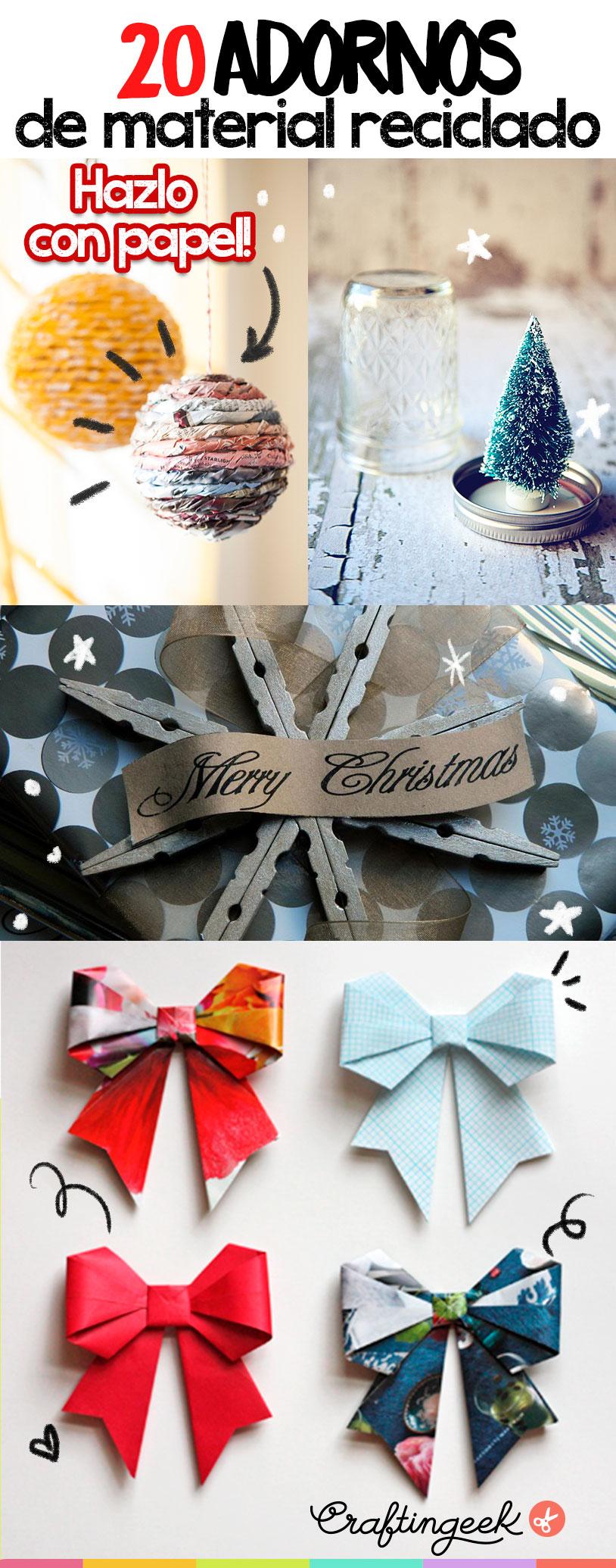 adornos navidad materiales reciclados