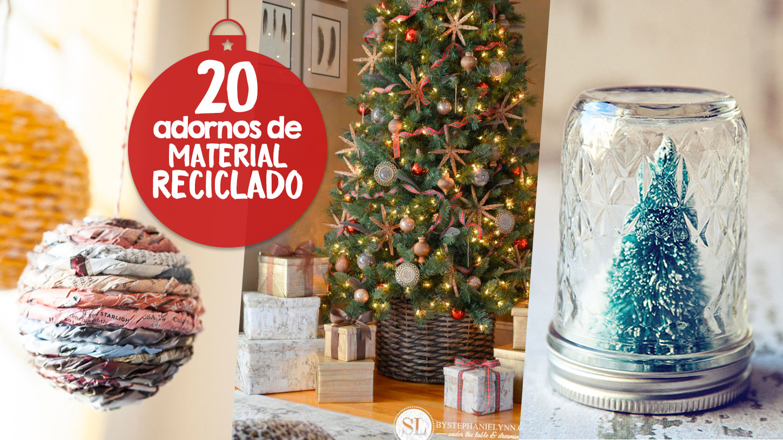 20 adornos navidenos material reciclado craftingeek for Ideas decoracion reciclaje