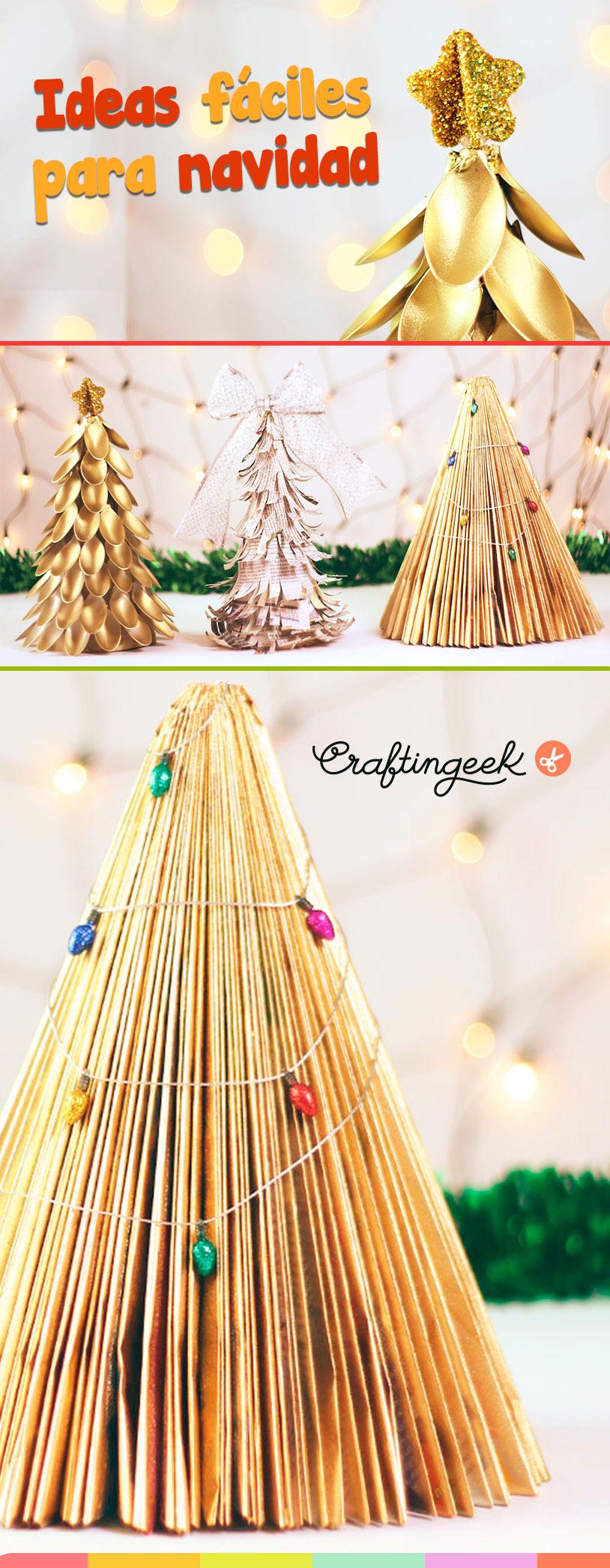 ideas arboles de navidad faciles