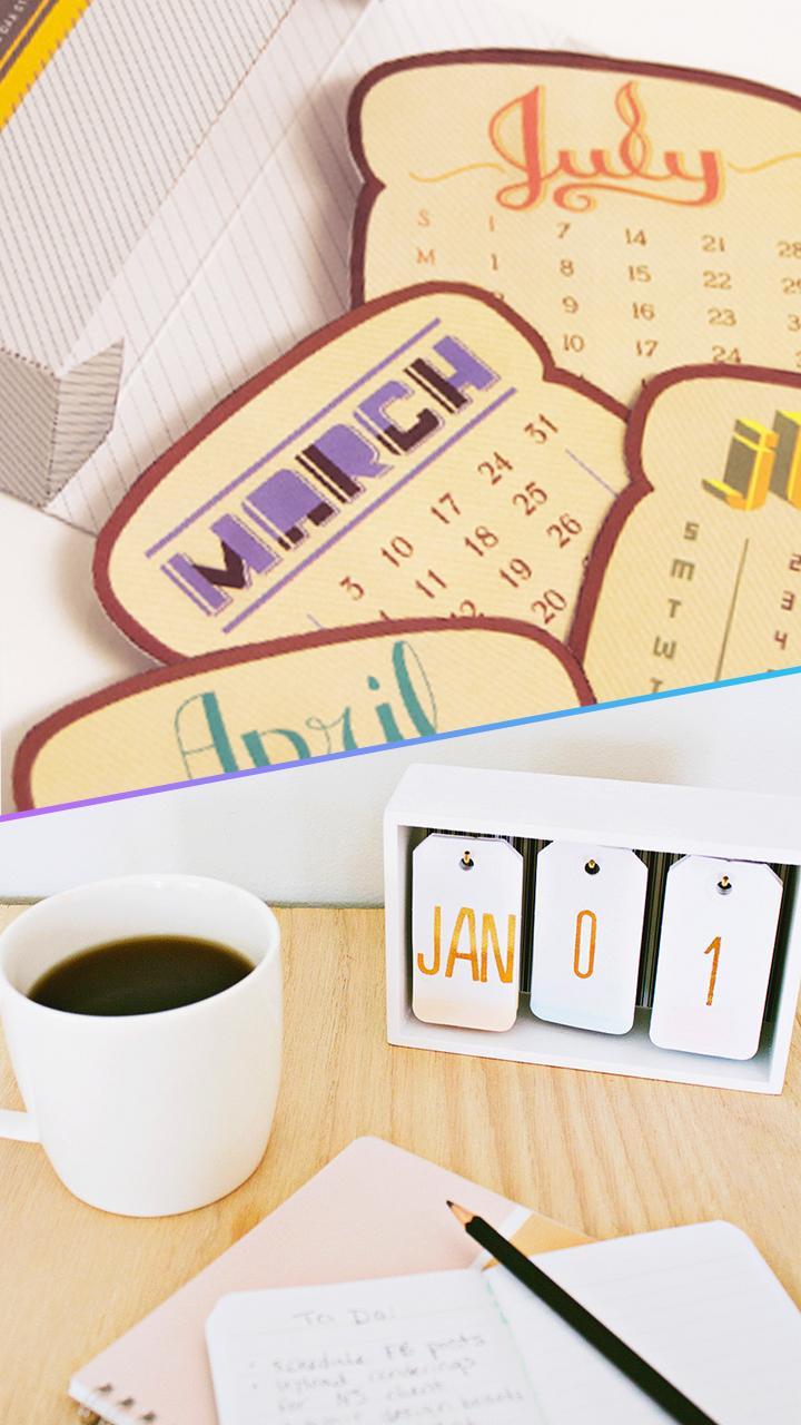 10 calendarios creativos y originales para tener en tu - Fotos originales para hacer en casa ...