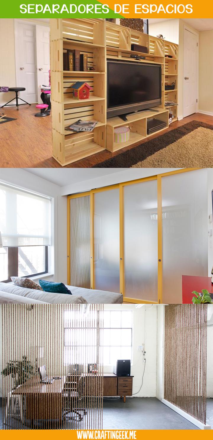 10 Originales Separadores De Espacios Para Tu Casa U Oficina  # Muebles Divisores De Espacios