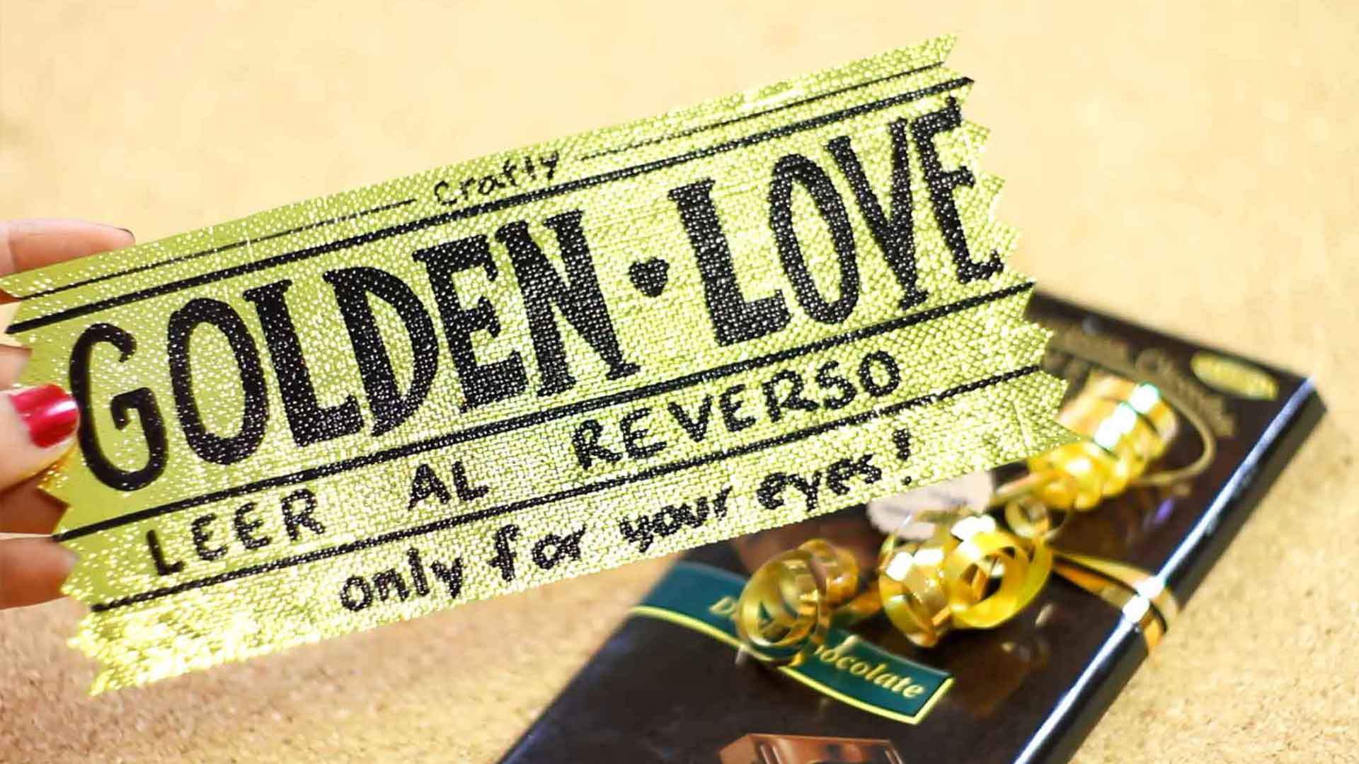 boleto dorado del amor