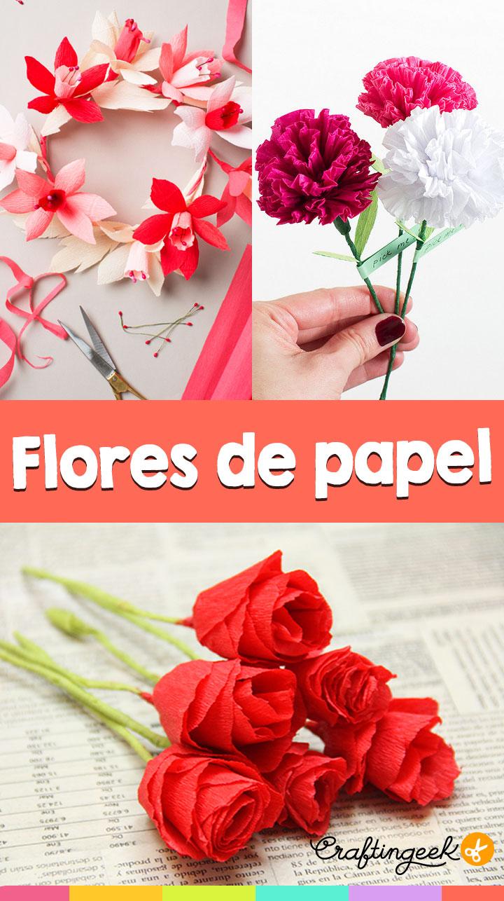 Flores de papel para tu enamorada craftingeek - Www como hacer flores com ...