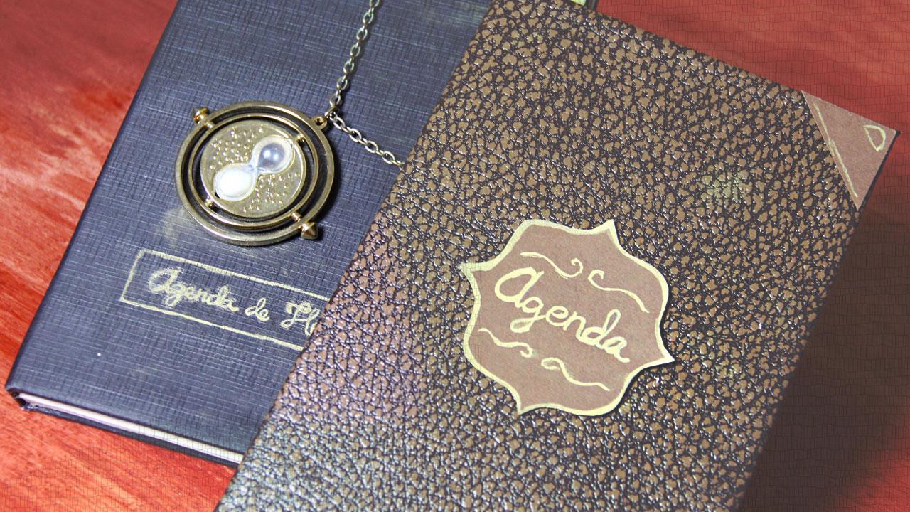 agenda-vintage inspirada en Harry Potter