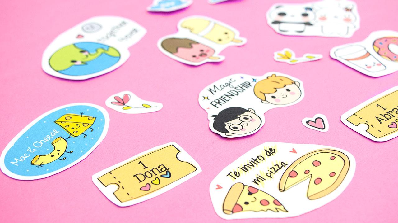 Stickers Para Decorar El Regalo Perfecto En San Valentin Craftingeek - Imagenes-para-decorar
