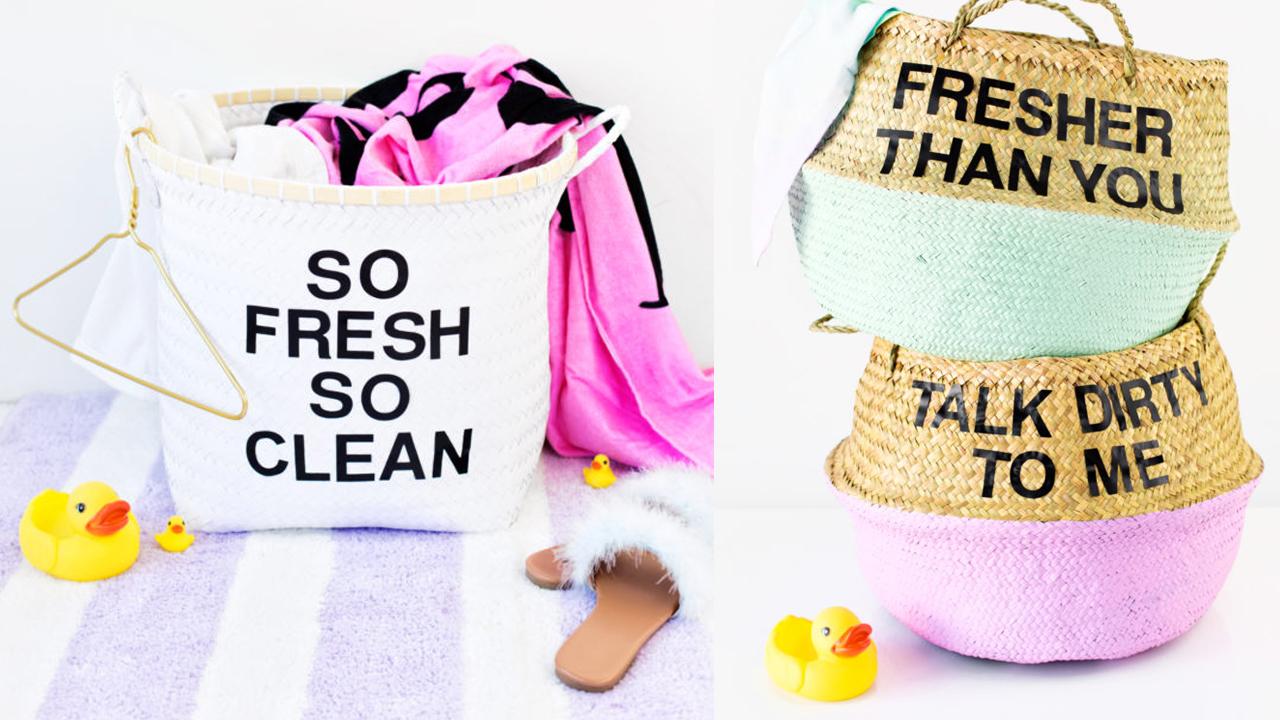 No dejes tu ropa regada, mejor separa con este cesto de ropa. Puedes personalizar cada cesto, te organizaras más.
