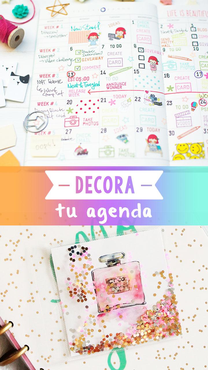 7 Ideas nicas para decorar tu agenda Craftingeek