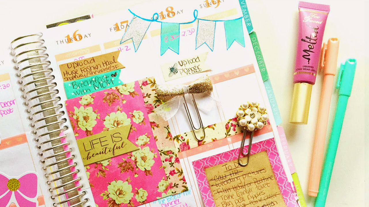 7 ideas nicas para decorar tu agenda craftingeek - Como decorar una agenda ...
