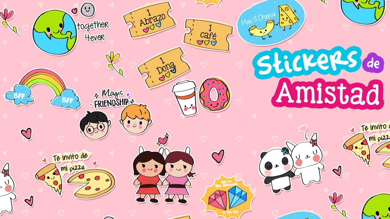 Lindos Stickers descargables de amistad ~ Craftingeek