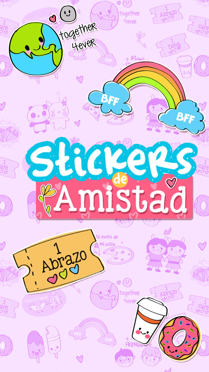 Lindos Stickers Descargables De Amistad Craftingeek