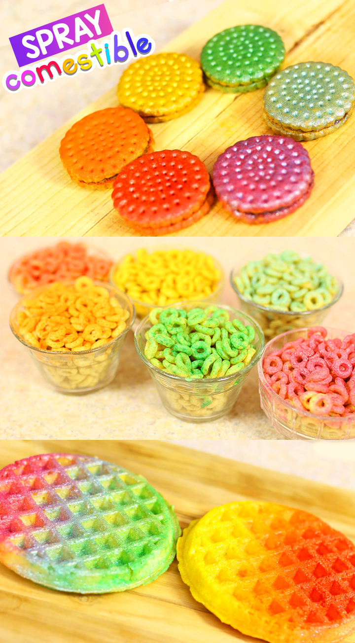 Aplica spray comestible en tus postres favoritos // Apply edible spray in your favorite desserts