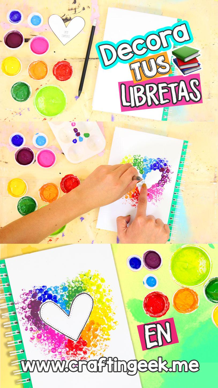 Las mejores ideas para decorar tus cuadernos craftingeek for Cosas para decorar tu pieza