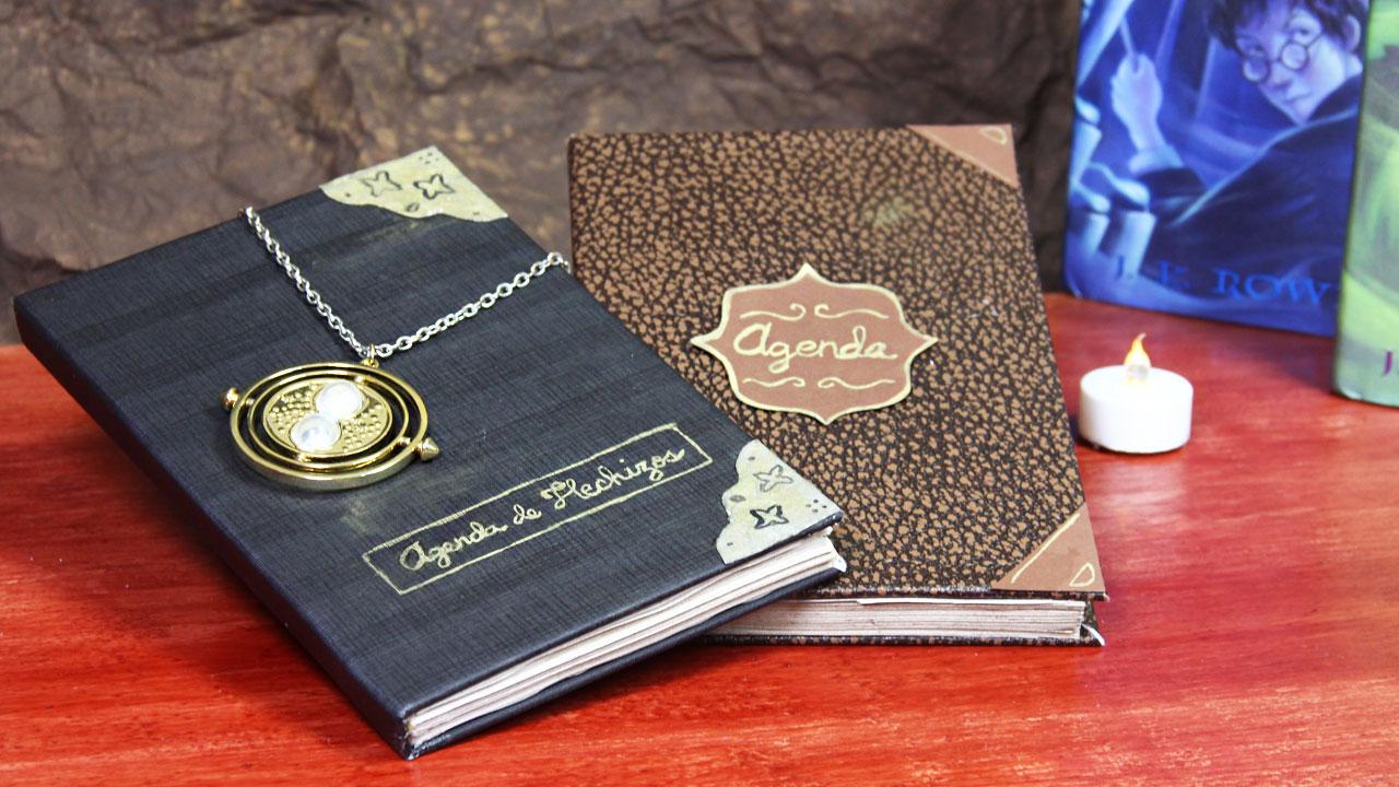 haz una agenda vintage inspirada en Harry Potter
