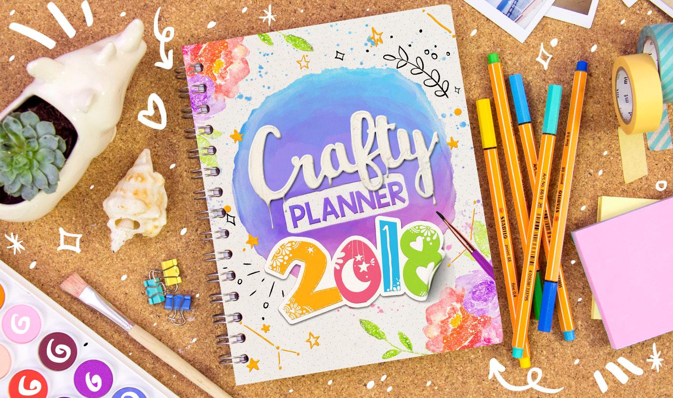 Crafty planner 2018 craftingeek